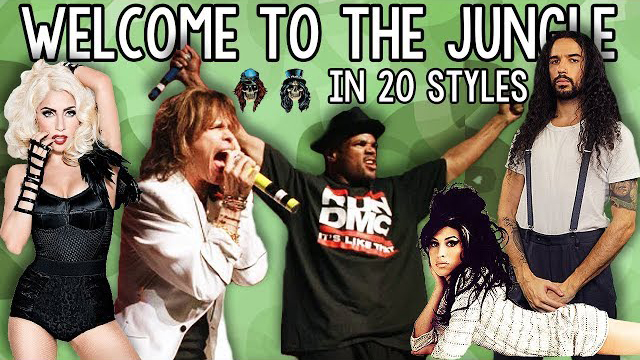 Guns N' Roses - Welcome To The Jungle in 20 Styles - Ten Second Songs