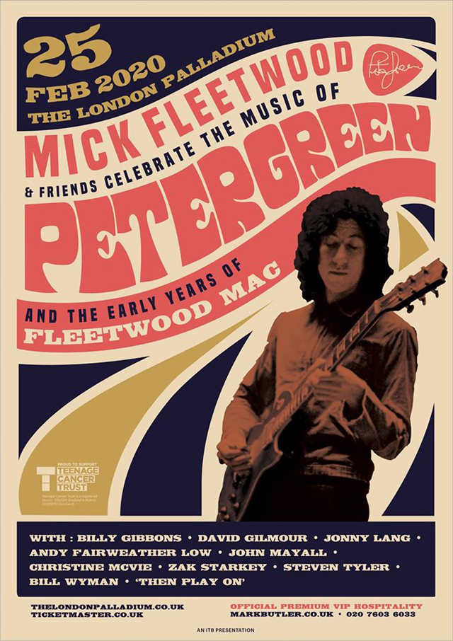 Mick Fleetwood celebrate Peter Green at London Palladium