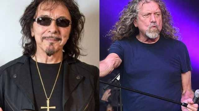 Tony Iommi and Robert Plant