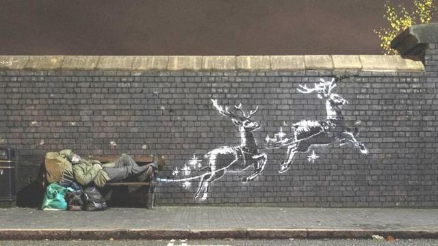 Banksy - God bless Birmingham