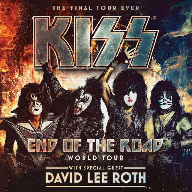 Kiss End Of The Road World Tour 2020 Tour with David Lee Roth