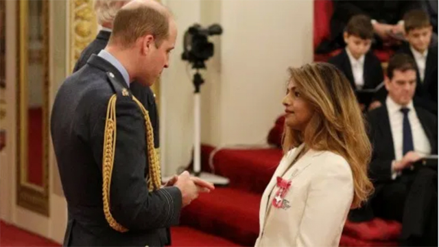 Prince William and M.I.A., photo via PA