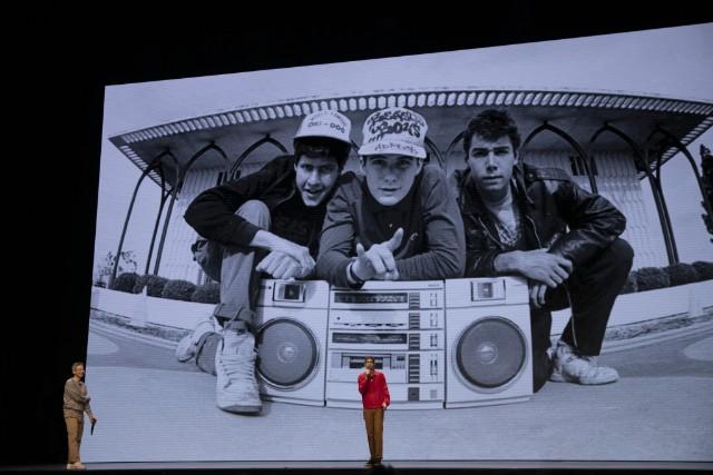 Beastie Boys Story - CREDIT: Atiba Jefferson Courtesy Of Apple / Background Image By Glen E. Friedman