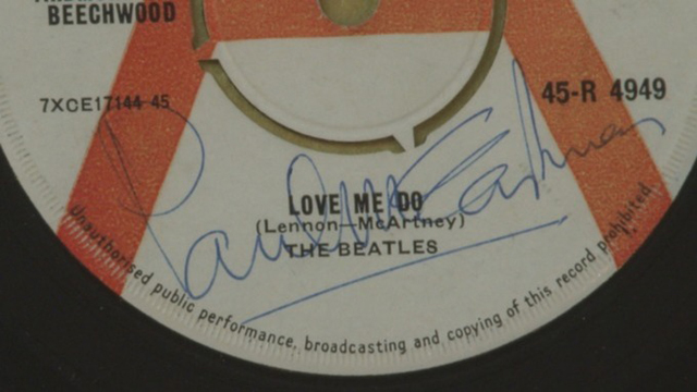 First Beatles record to be played on the radio is sold for £17,000 - Credit: PA
