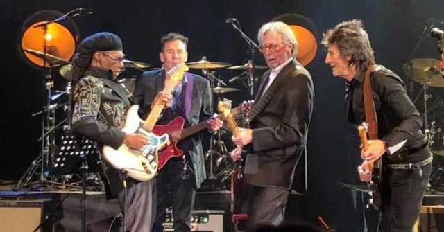 Nile Rodgers, Eric Clapton, Ronnie Wood at A Tribute to Ginger Baker, Feb. 17, 2020