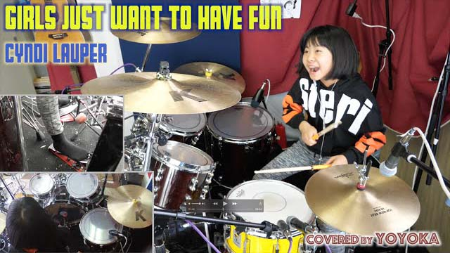 Girls Jast Want to Have Fun - Cyndi Lauper / Cover by Yoyoka, 10 year old