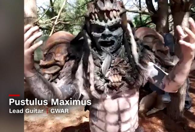 GWAR guitarist Pustulus Maximus