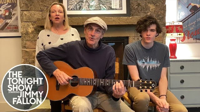 James Taylor and his wife and son