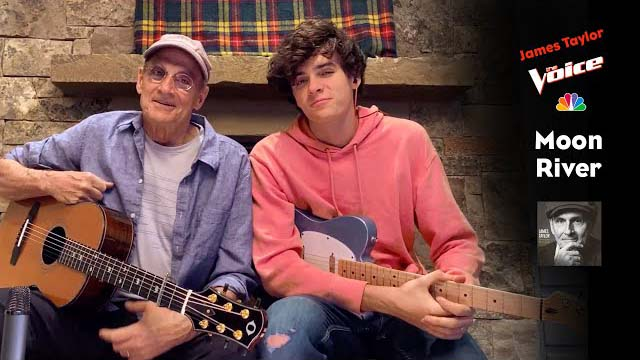 James Taylor and son Henry