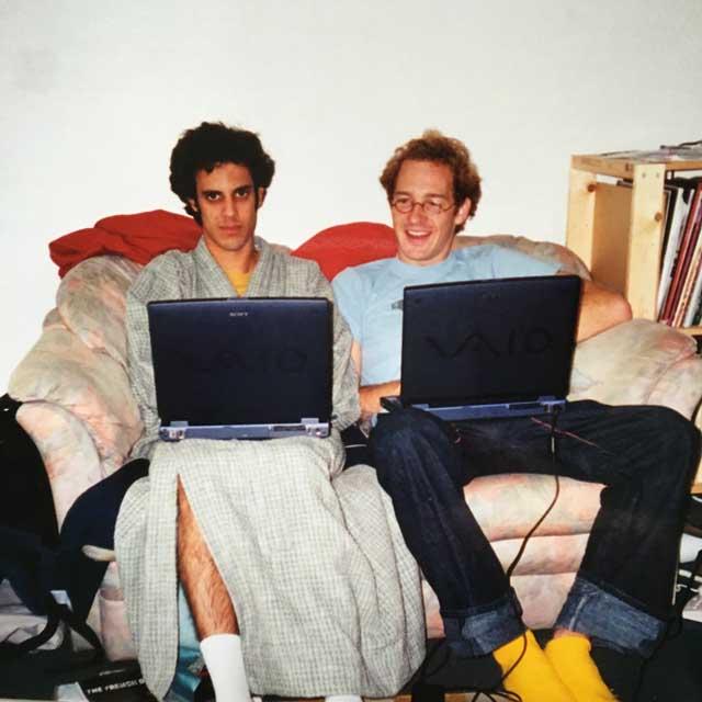 Kieran Hebden and Dan Snaith, photo by Leila Hebden