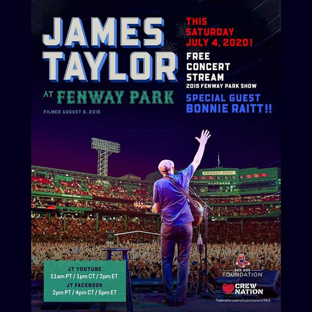 James Taylor - Fenway Park 2015 concert stream