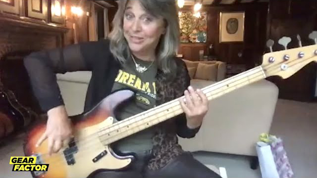 Loudwire - Rock Legend Suzi Quatro Plays Her Favorite Bass Riffs