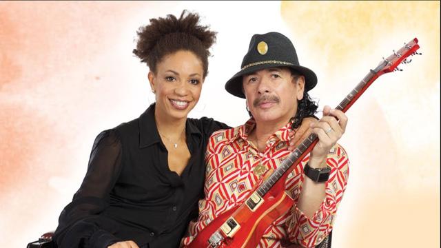 Cindy Blackman Santana and Carlos Santana