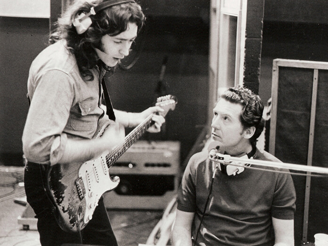 Jerry Lee Lewis & Rory Gallagher - Photo by Strange Music Ltd