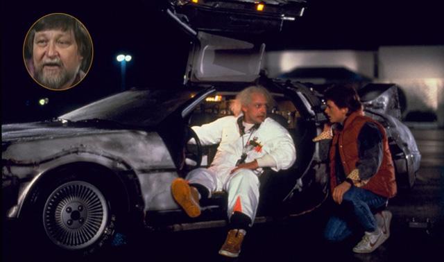Back to the Future DeLorean and Ron Cobb