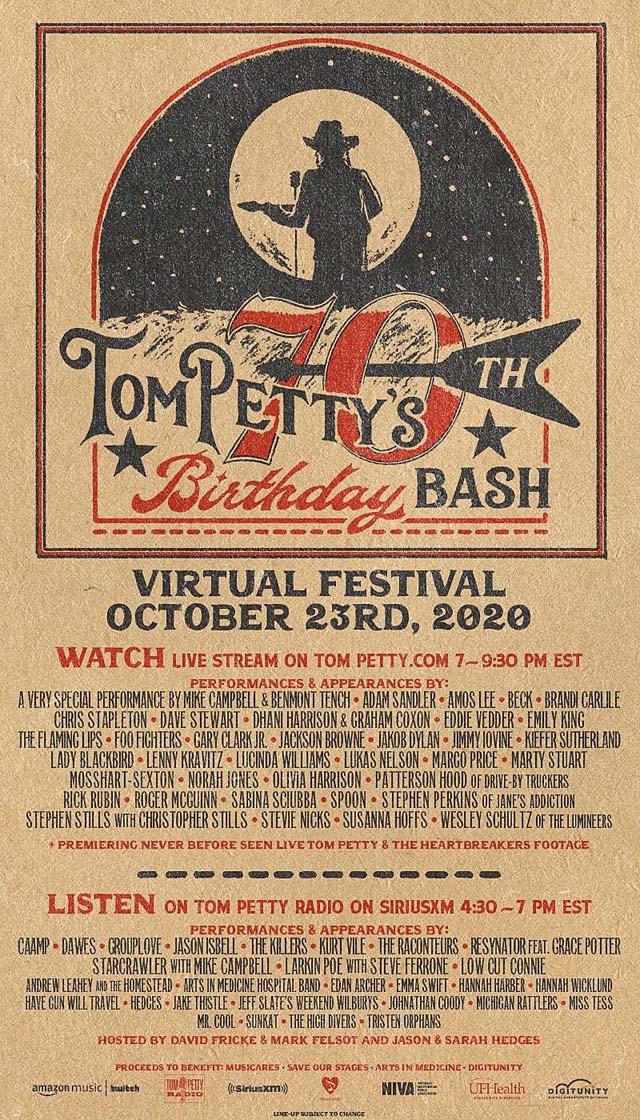 Tom Petty Birthday Bash 2020