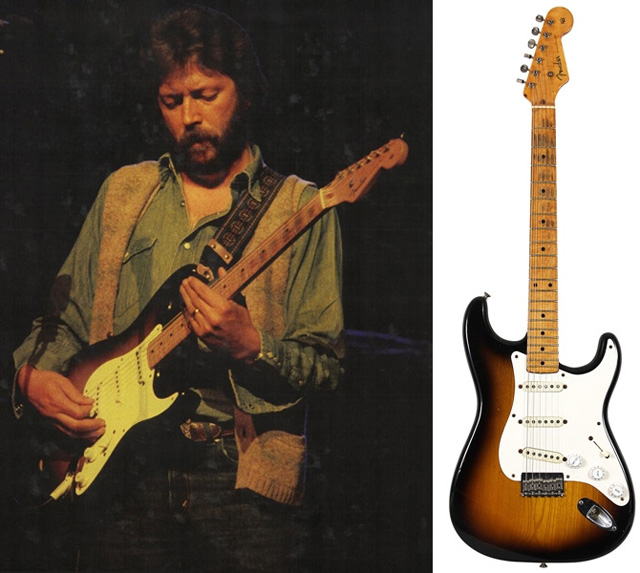 """Eric Clapton's Historic Owned, Stage and Studio Used """"Slowhand"""" 1954 Fender Stratocaster Guitar"""