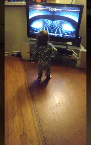 baby rocking out to TOOL