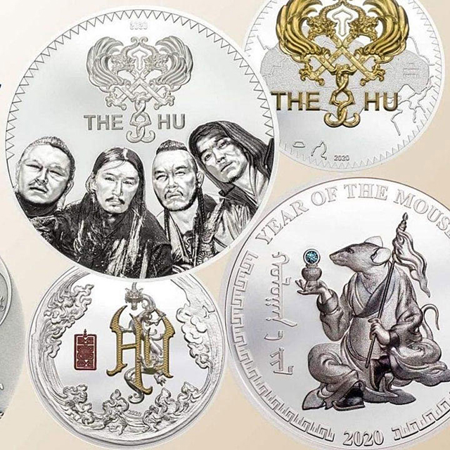 The HU commemorative coin (Image credit: Bank Of Mongolia)