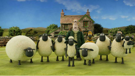 Shaun the Sheep Watching a Movie