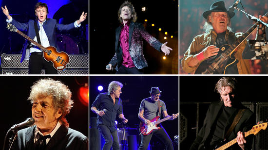 Rolling Stones, Bob Dylan, Paul McCartney, Neil Young, the Who and Roger Waters
