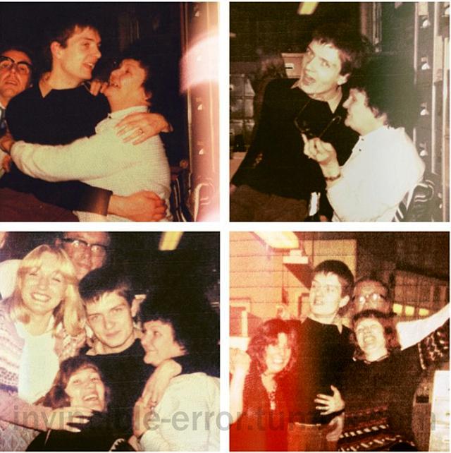 Ian Curtis - office xmas party 1977