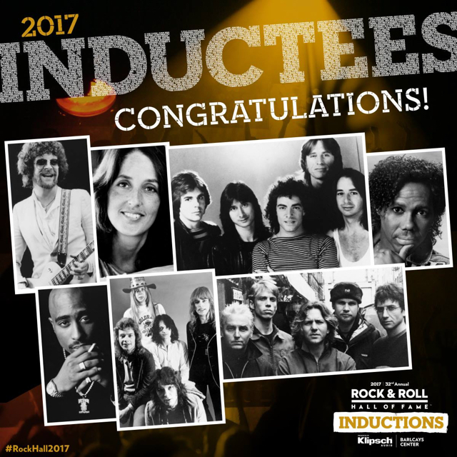 The Rock and Roll Hall of Fame 2017 inductees