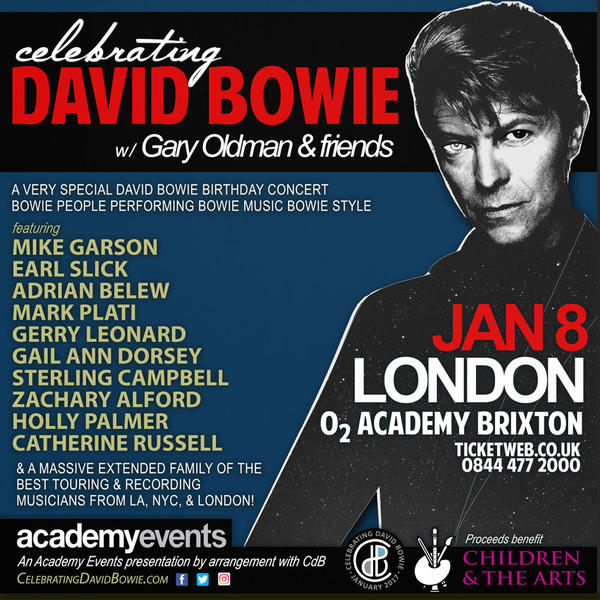 Celebrating David Bowie - London - Jan. 8, 2017
