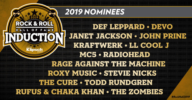 Rock & Roll Hall of Fame Reveals 2019 Nominees