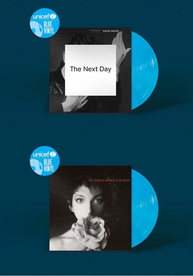 David Bowie / The Next Day, Kate Bush / The Sensual World - Unicef Blue Vinyl