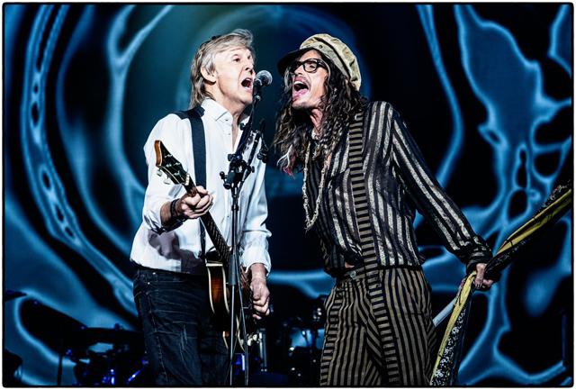 Paul McCartney with Steven Tyler