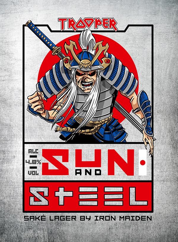 IRON MAIDEN AND ROBINSONS BREWERY UNVEIL TROOPER SUN AND STEEL: A NEW SAKE INFUSED LAGER