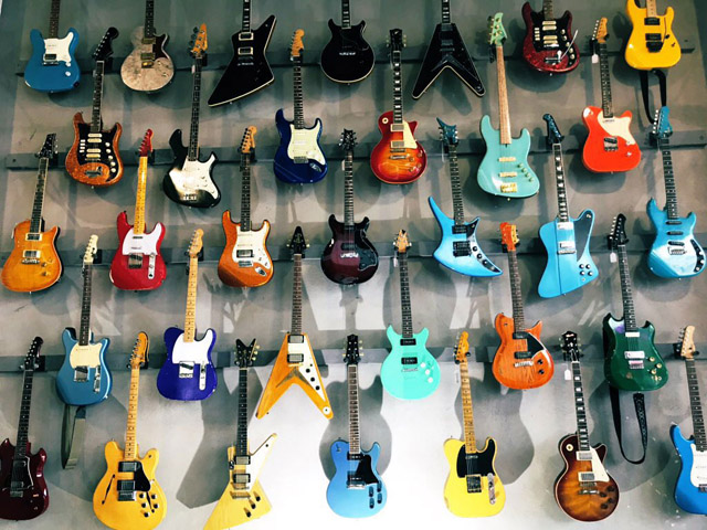 Guitars auctioned from the estate of Walter Becker by Julien's Auctions on Oct. 18 and 19, 2019 - Photo by Pamela Chelin