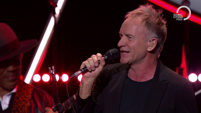 Sting performs Message in a Bottle with H.E.R | Global Citizen Prize 2019