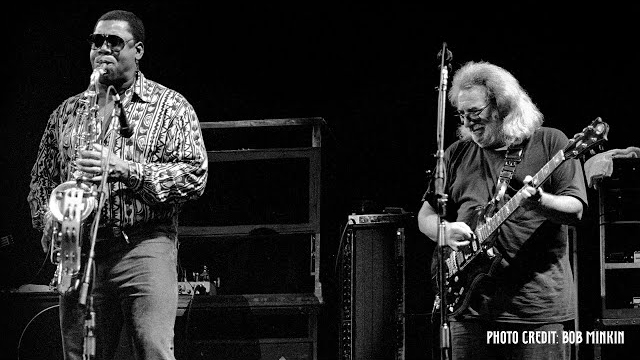 Jerry Garcia with Clarence Clemons