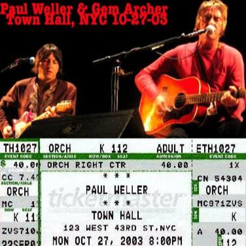 Paul Weller w/Gem Archer - Town Hall, New York City - Oct 27, 2003