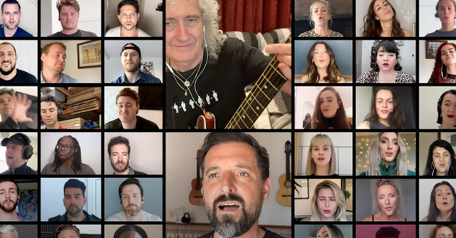 The cast of We Will Rock You past and present - Bohemian Rhapsody ft. Brian May