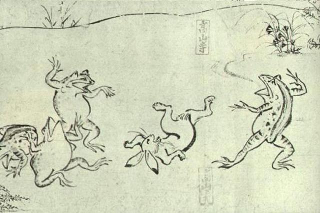 国宝「鳥獣戯画」