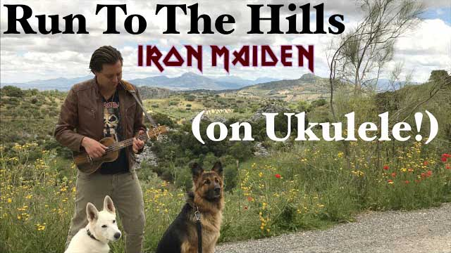 IRON MAIDEN - Run To The Hills (Acoustic) - UKULELE cover by Thomas Zwijsen - Nylon Maiden