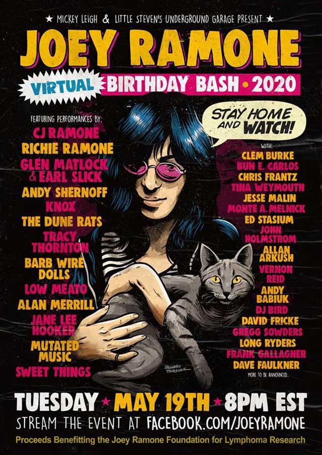 Joey Ramone birthday bash 2020