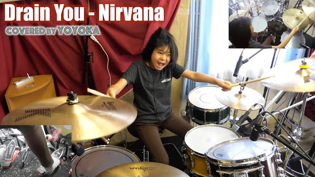 Drain You - Nirvana / Covered by Yoyoka, 10 year old
