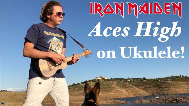 IRON MAIDEN - Aces High (Acoustic) - UKULELE cover by Thomas Zwijsen - Nylon Maiden