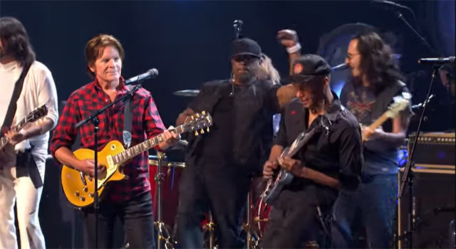 2013 Rock & Roll Hall of Fame Induction Ceremony. The super jam performance includes newly inducted RUSH, Public Enemy, and Heart and additional performers Dave Grohl, Darryl DMC McDaniels, John Fogerty, Tom Morello, Gary Clark Jr. and Chris Cornell.