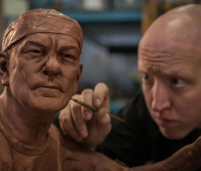 statue of Neil Peart (Morgan MacDonald/Instagram)