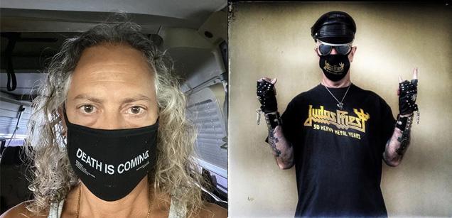 Kirk Hammett and Rob Halford