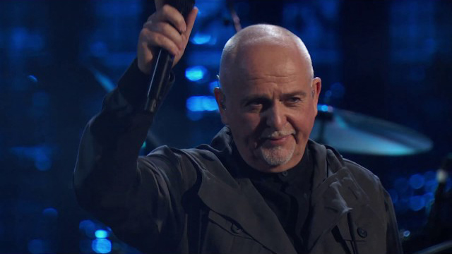 Peter Gabriel at the 2014 Rock & Roll Hall of Fame Induction Ceremony.