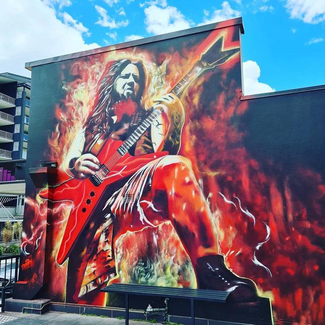 Dimebag Darrell mural