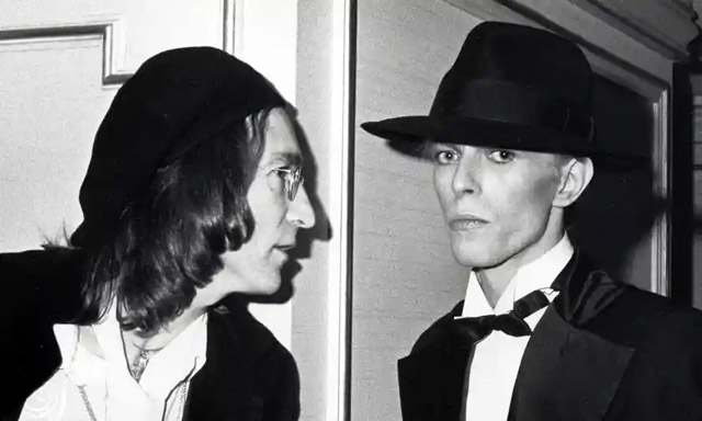 John Lennon and David Bowie at the 1975 Grammy awards. Photograph: Ron Galella/WireImage