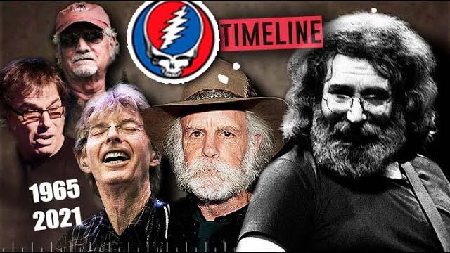Angelo di Carpio - GRATEFUL DEAD: TIMELINE | Faces, Tours, Live Songs 1965-2021