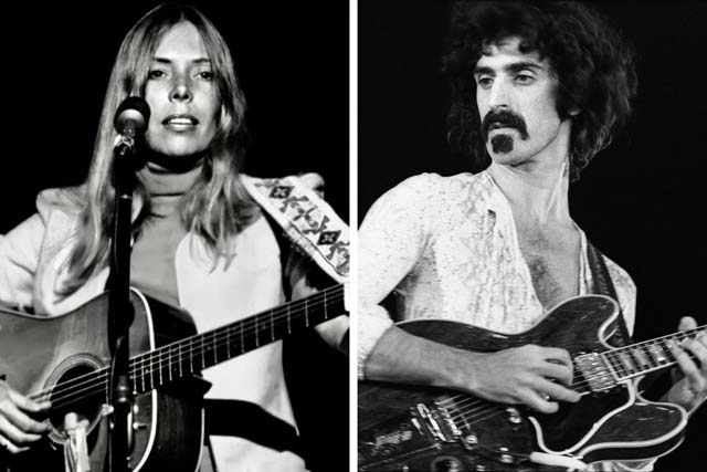 Joni Mitchell and Frank Zappa